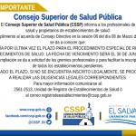 Imagen - AMPLÍAN PRÓRROGA DE INSCRIPCIÓN DE ESTABLECIMIENTOS POR PROCEDIMIENTO ESPECIAL
