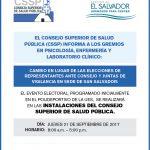 Imagen - Cambio de lugar de Elecciones en Sede San Salvador