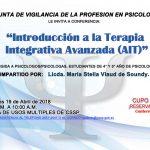 """Imagen - Conferencia """"Introducción a la Terapia Integrativa Avanzada (AIT)"""""""