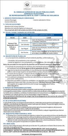 PUBLICACION CONVOCATORIA EL DIARIO DE HOY 28 DE AGOSTO